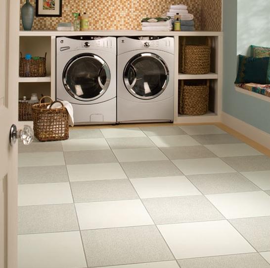 Laundry-room-Floor-Tile Well organized laundry room design ideas