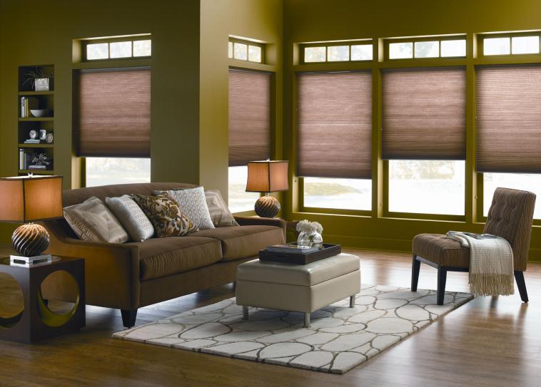 bay window accordion shades