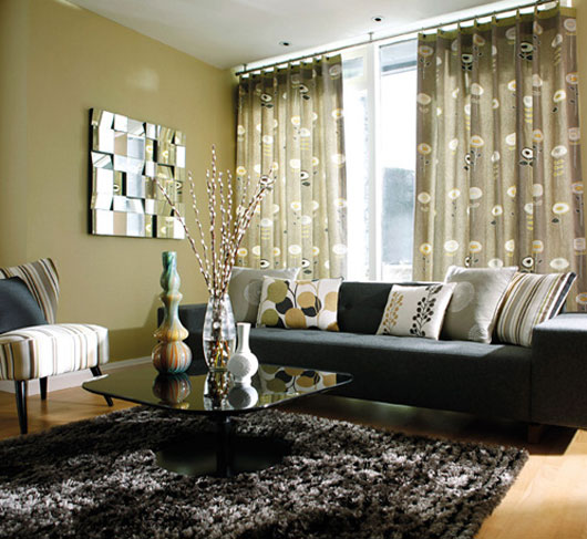 living room modern curtains