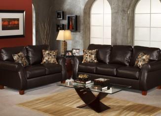 black leather sofaset