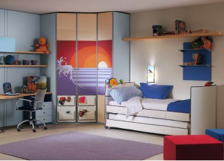 blue theme Mates Beds bedroom decor