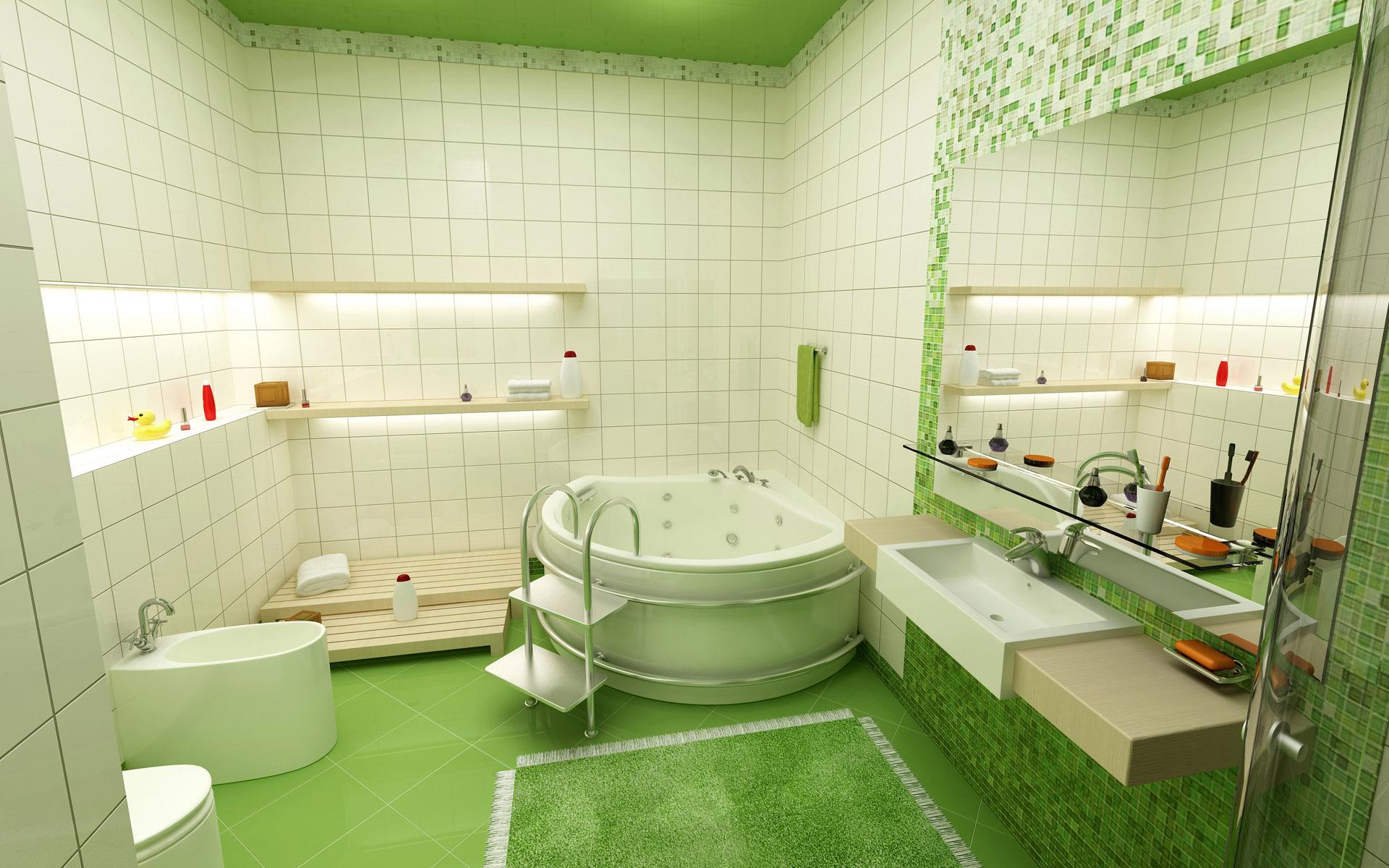 contemporary jacuzzi bathroom