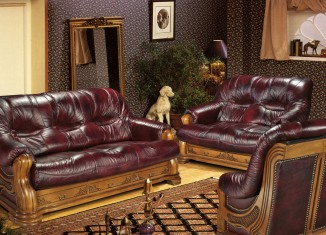luxurious leather sofaset