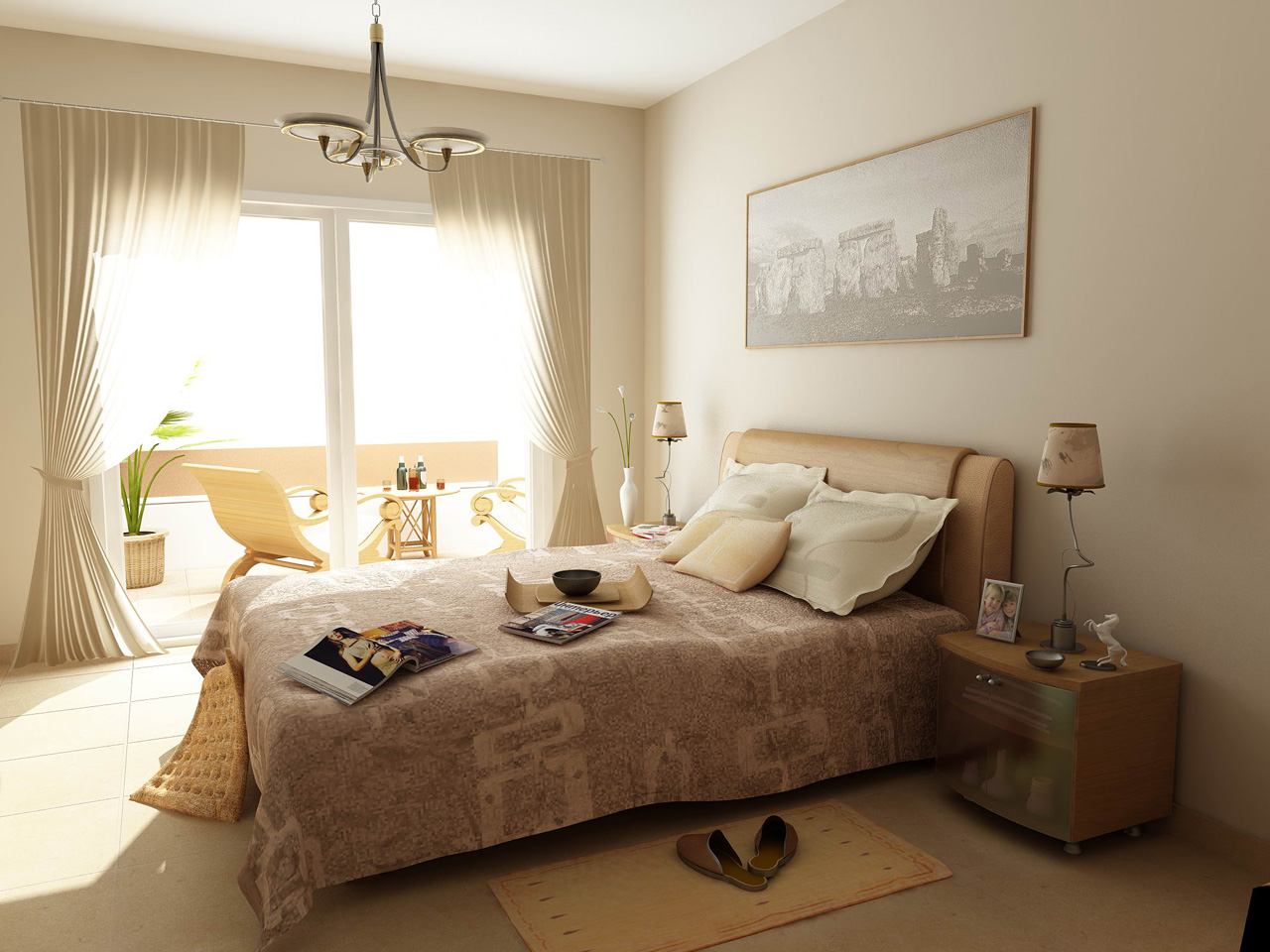 luxury bedroom natural lighting interior design ideas