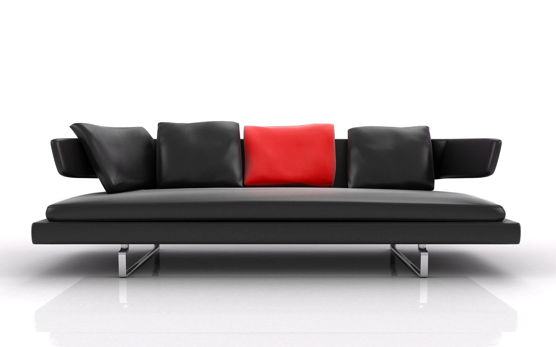 Modern leather sofa interior design ideas for Modern leather furniture