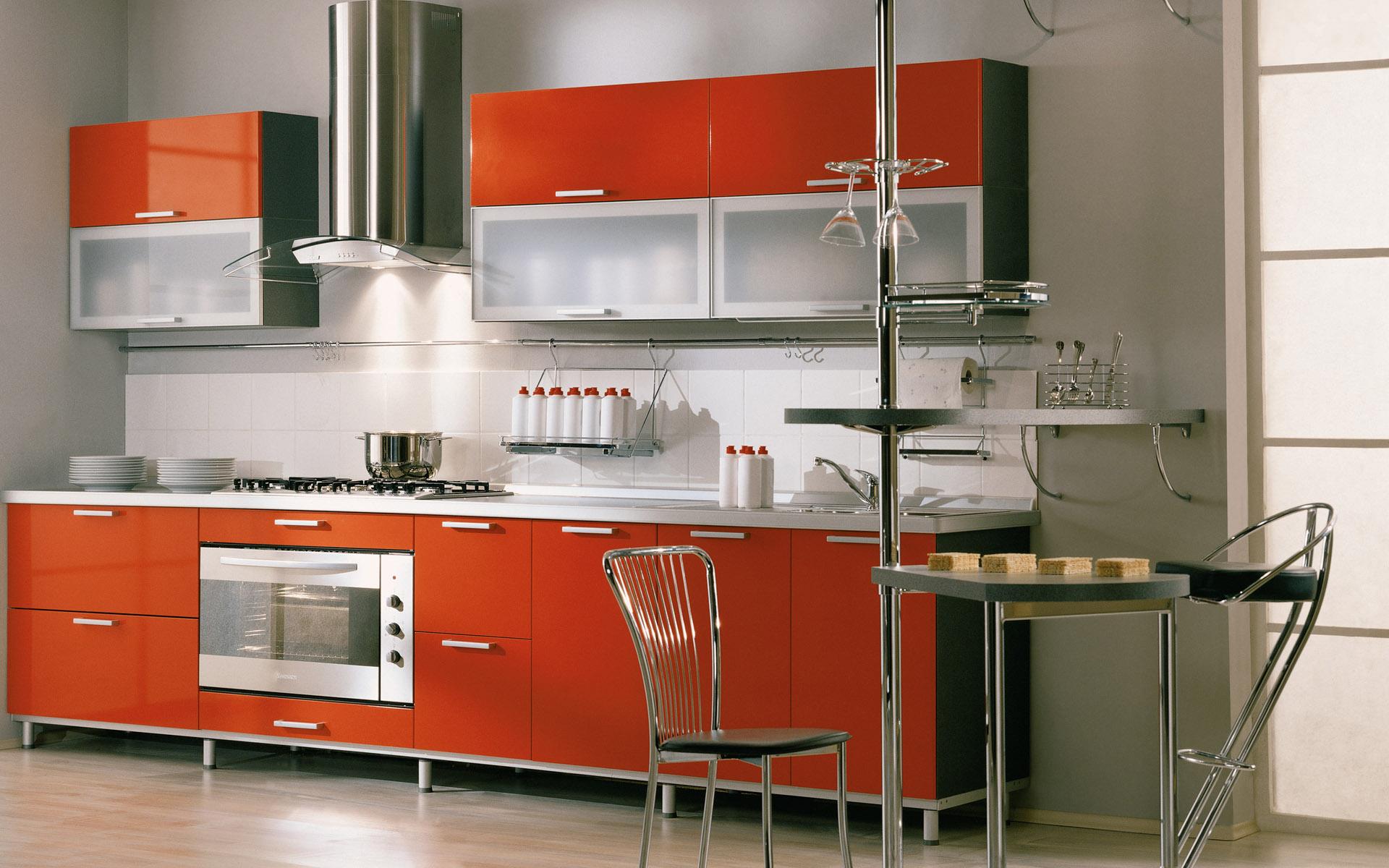 modern red kitchen design