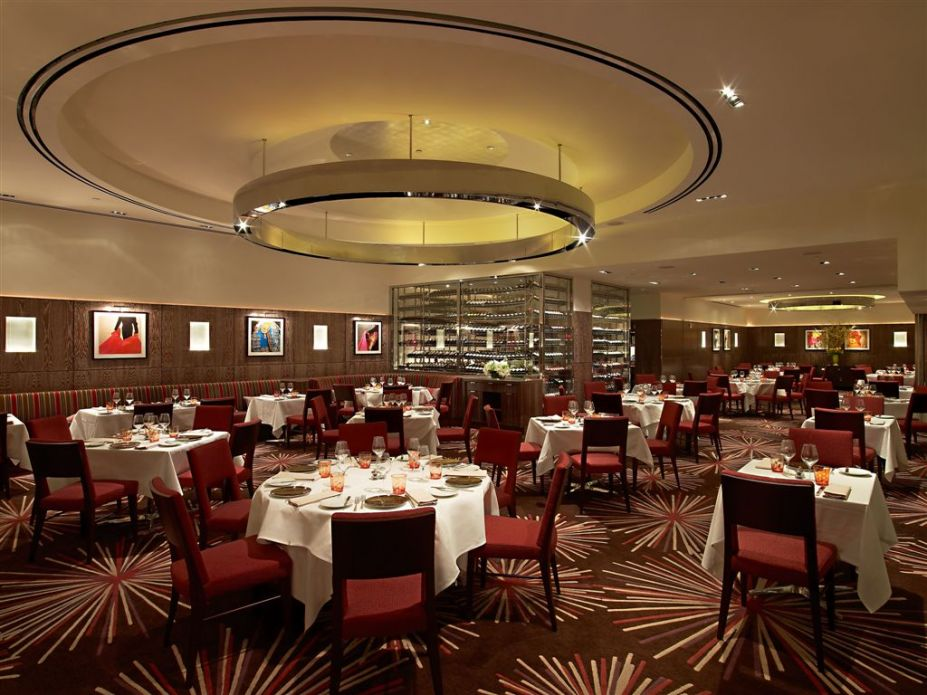 modern red restaurants design inspiration