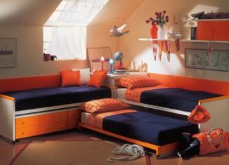 orange Mates Beds bedroom decoration