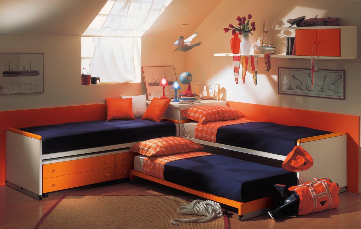 Orange mates beds bedroom decoration interior design ideas - Orange bedroom interior design ...
