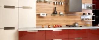 red and white Kitchen designs idea