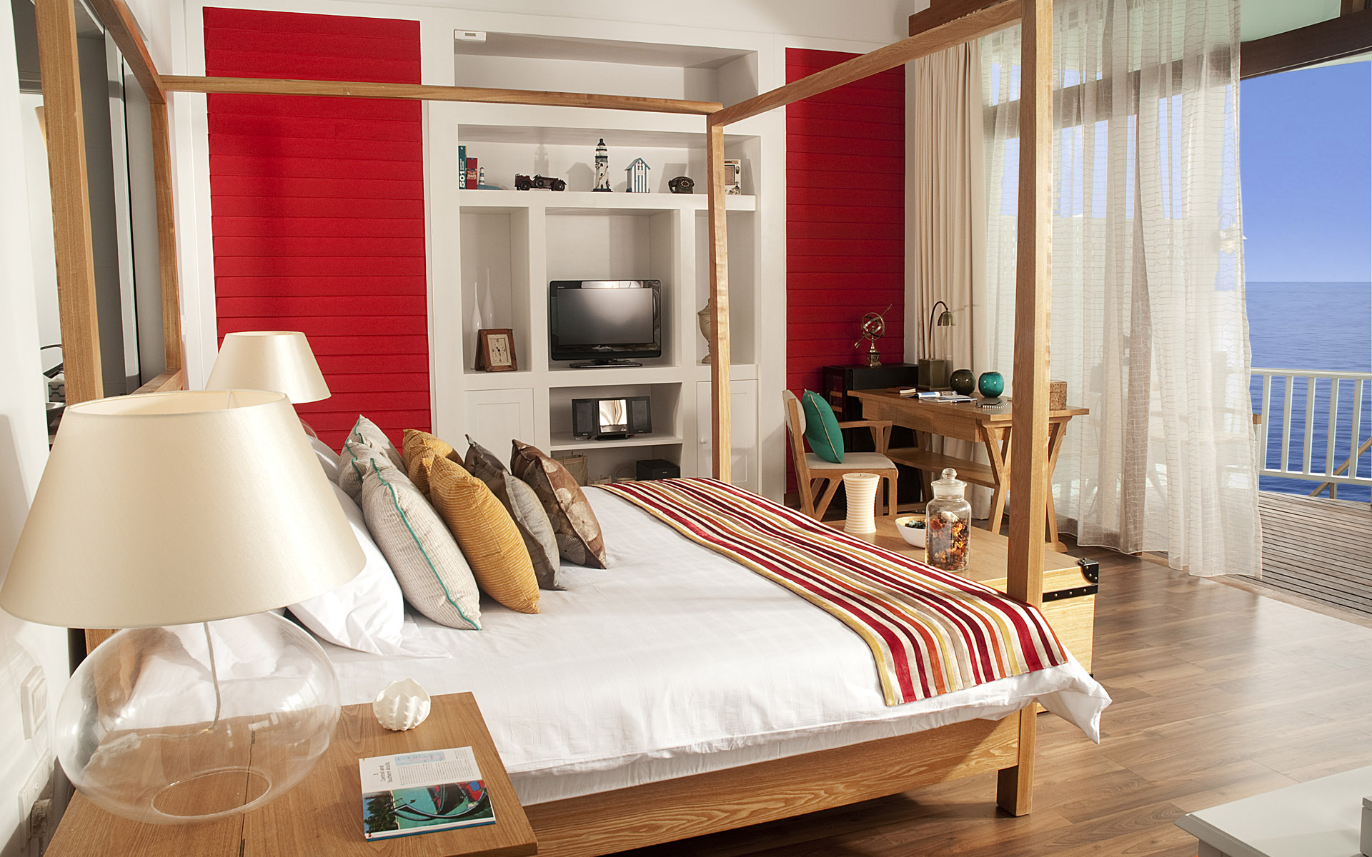 red-and-white-bedroom-decoration-idea red and white bedroom decoration idea