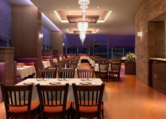 restaurant interior design lighting