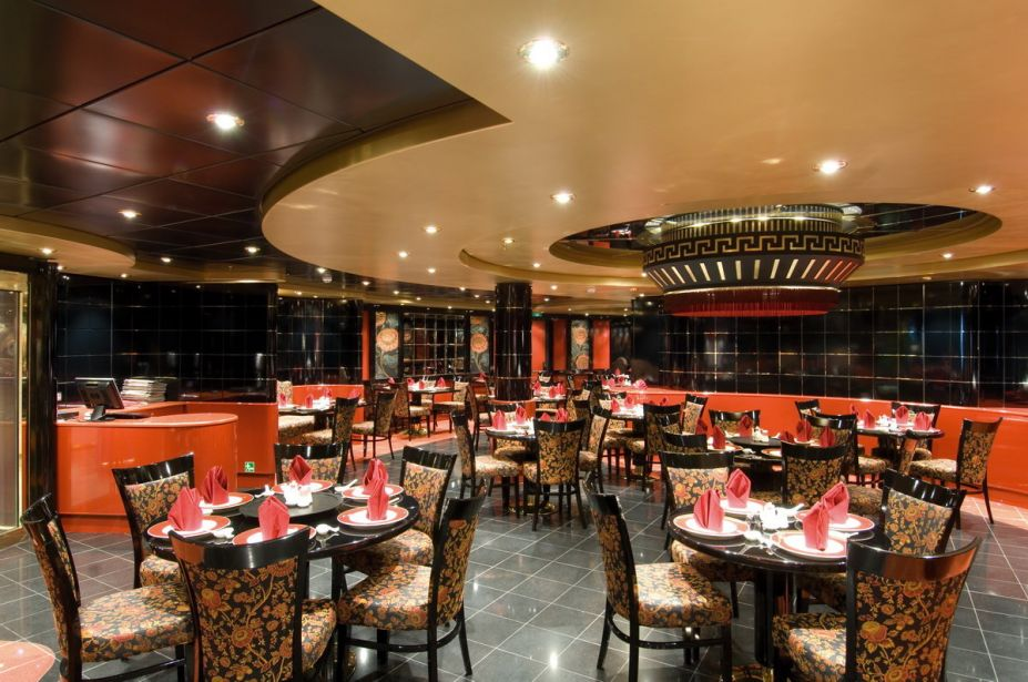 restauran interior design with red theme
