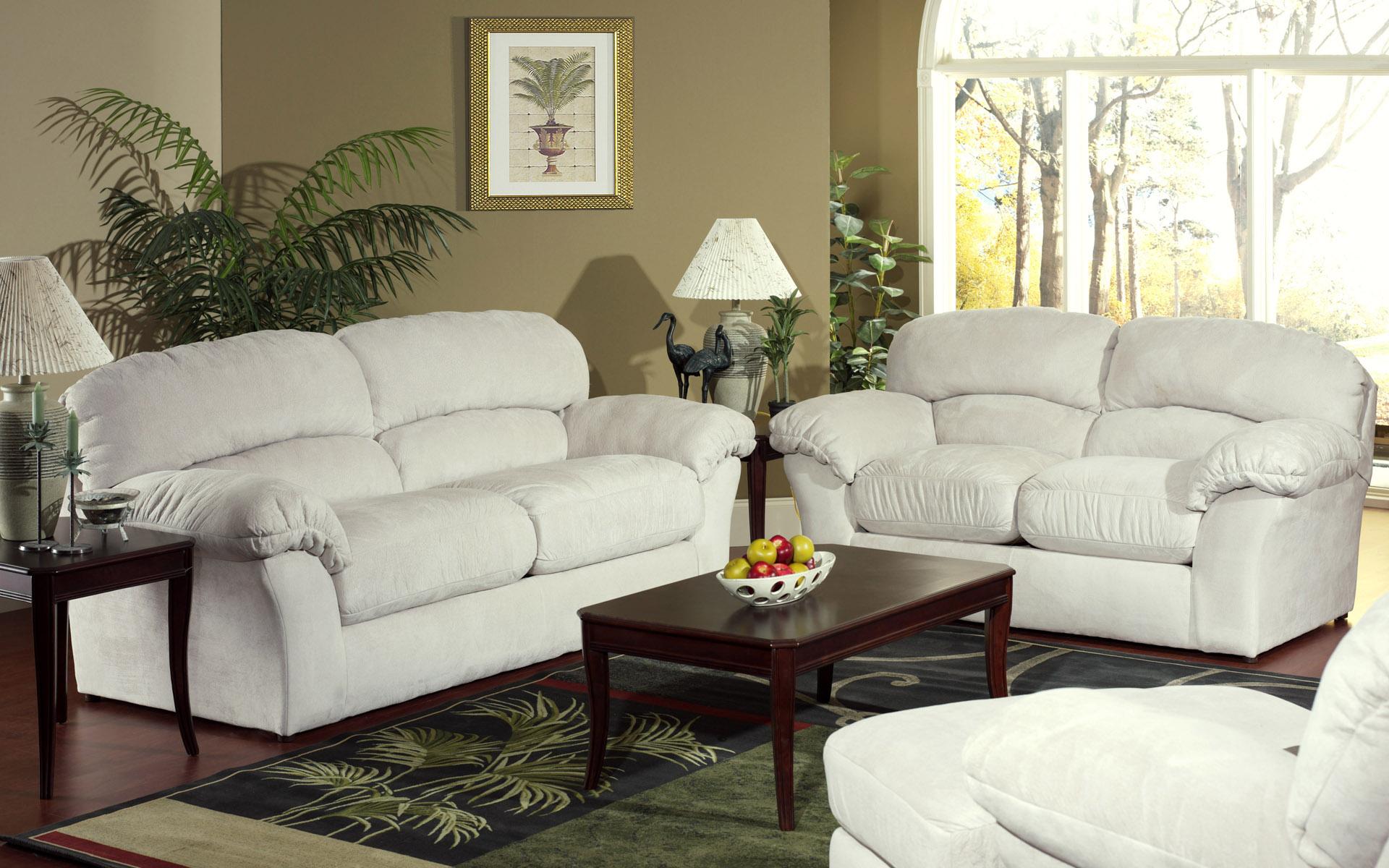 white sofaset | Interior design ideas