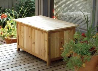 wooden garden storage boxes