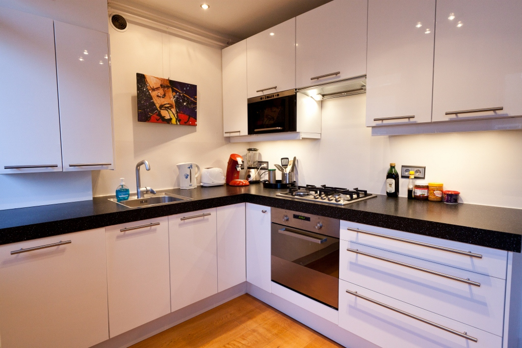 Kitchen-sink-and-cooking-stove Embroidering Kitchen Interiors - Kitchen design idea