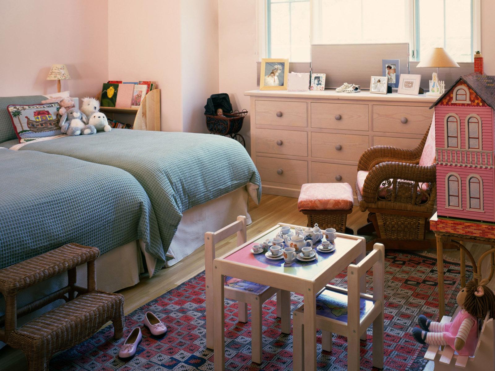 Twin Kids Girl Bedroom Decoration Idea Interior Design Ideas