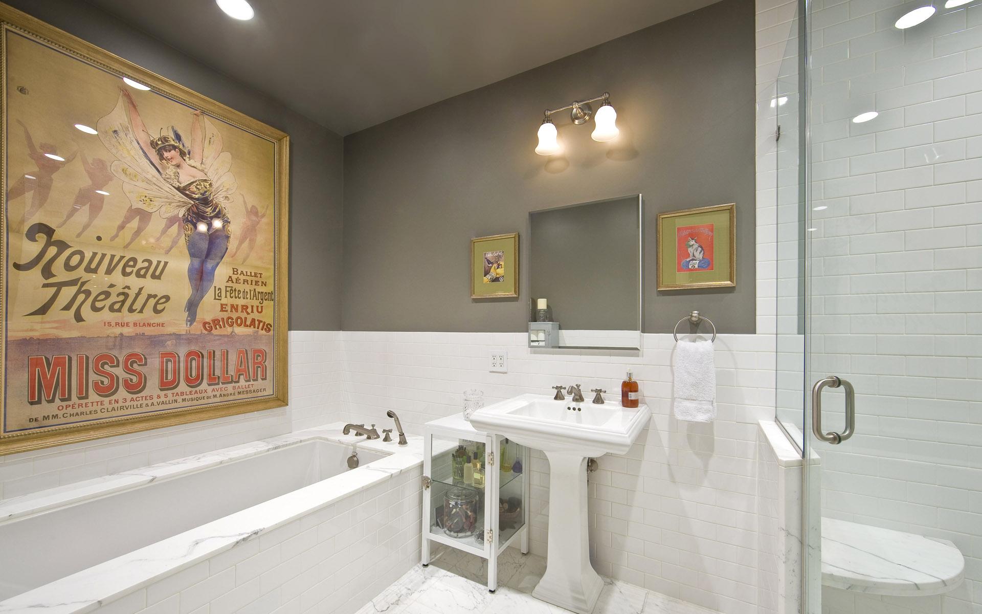 white-Bathroom_interior-decoration white Bathroom interior decoration