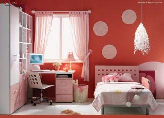red kids room design