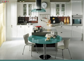 Pearl White Kitchen Design