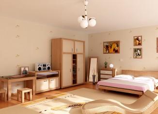 All Wood Pink Kids Room Design
