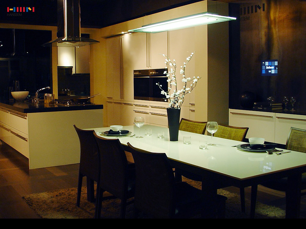 Kitchen-Dining-Night-View Kitchen Dining Night View