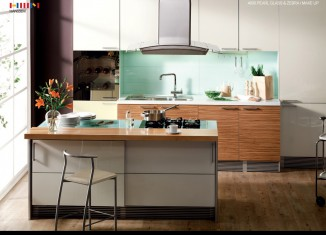 Pearl Glass Kitchen Design