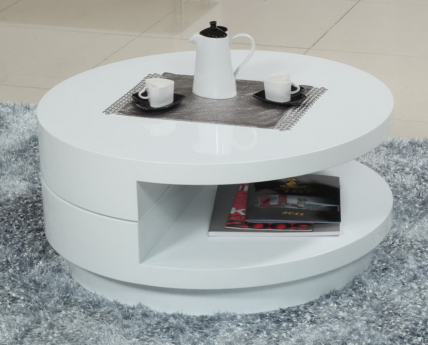 Modern Round White Coffee Table Interior Design Ideas