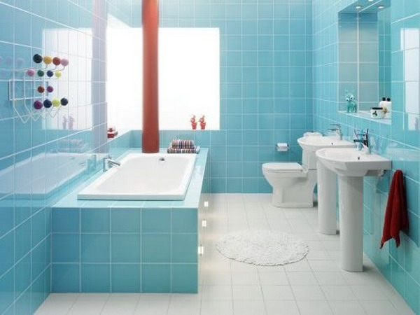 Blue Modern-Small-Bathroom Interior Decoration