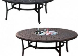 round garden table