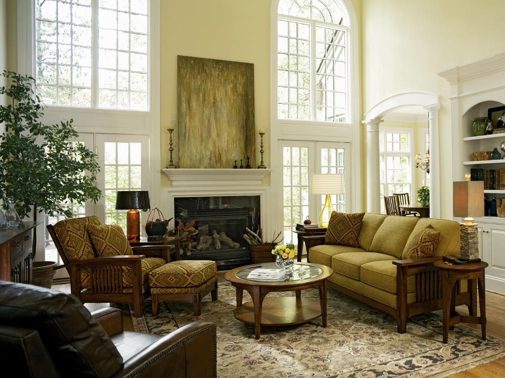 Traditional living room furniture interior design ideas for Traditional living room designs
