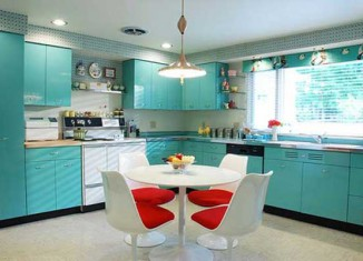 Blue Kitchen Design Interior