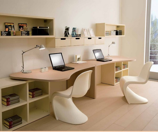 Twin Kids Study Desk