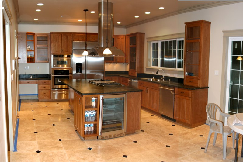 Vitrified-Kitchen-Flooring-Tiles-idea Open Plan Kitchen Design inspiration