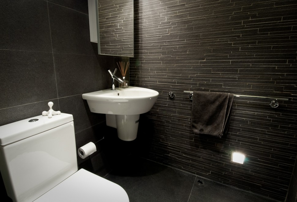 black bathroom designs modern