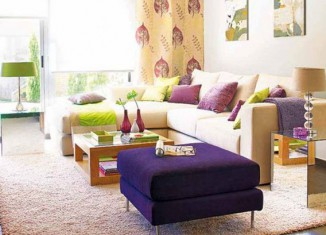 colorful living room couches