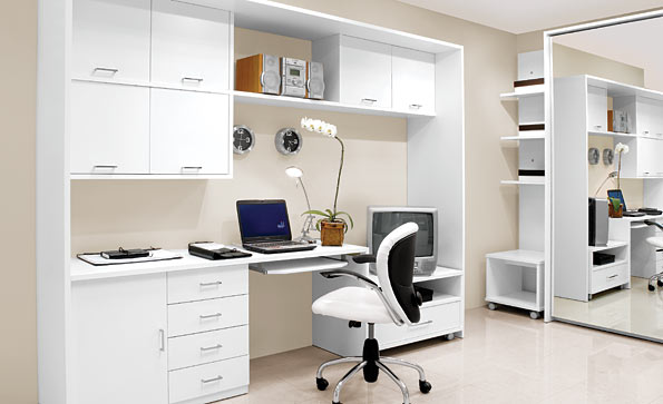 home office desk attached cabinets