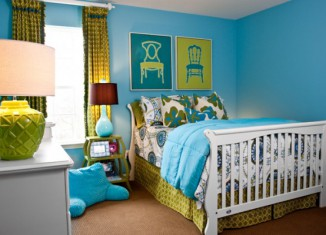 power color turquoise teen bedroom