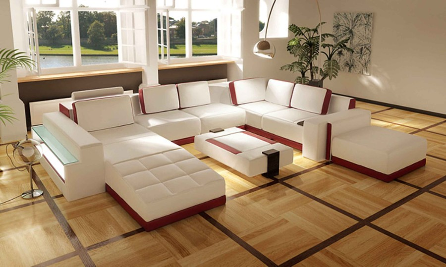 red and white Modern Sofas and Couches