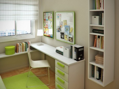 teen room study table and shelving ideas | Interior design ideas