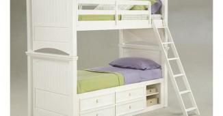 white twin bunk