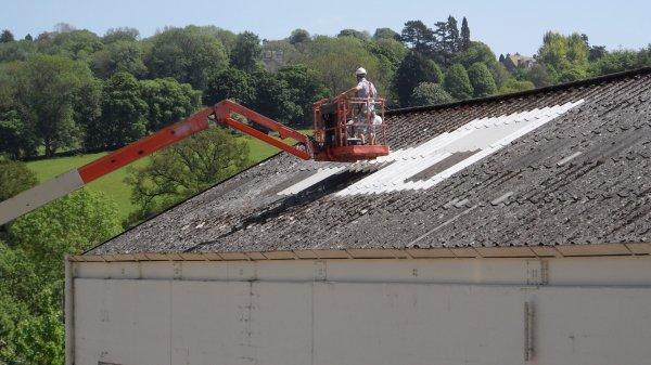 asbestos roof fixing