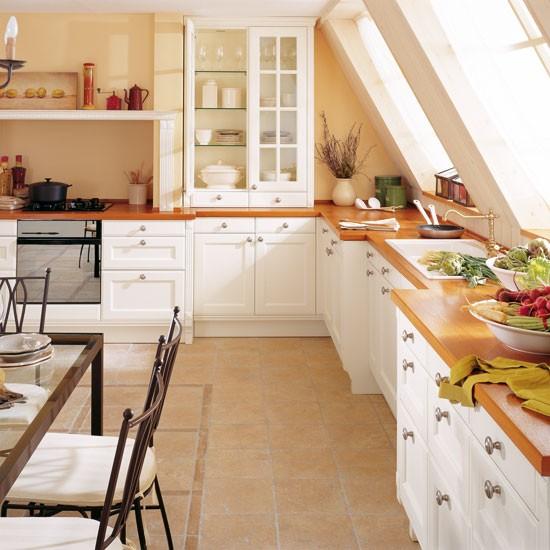 domestic L shaped kitchen