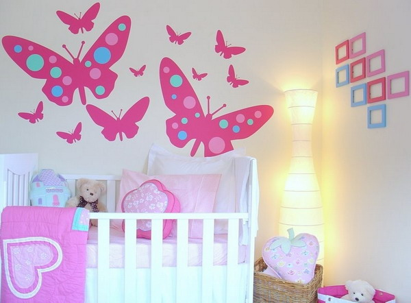 girls baby bedroom wallpaper