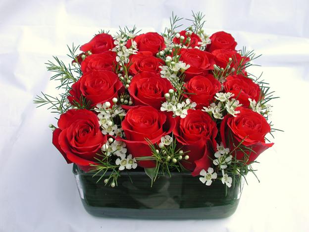 roses arrangement idea