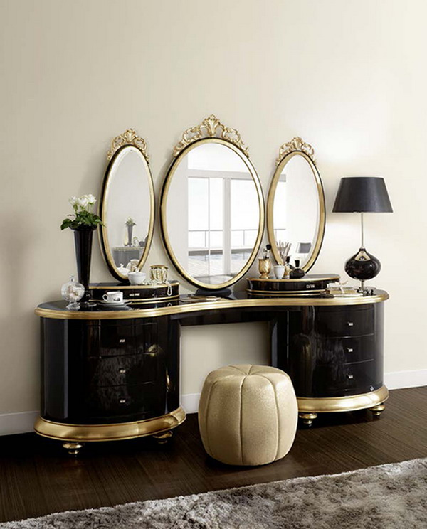 solid-wood-cabinet-Dressing-Table-decoration Dressing tables decoration ideas