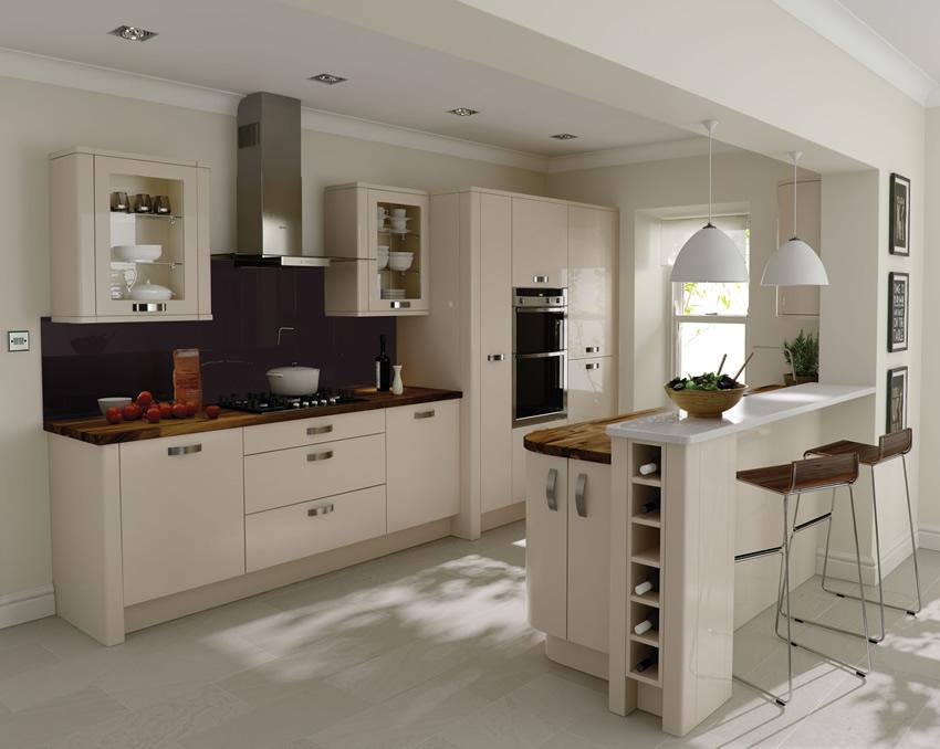 white-and-beige-kitchen-color-scheme Glamorous Kitchen Design Tips