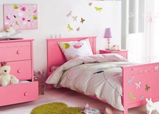 Beautiful Pink White Girls Room Decor