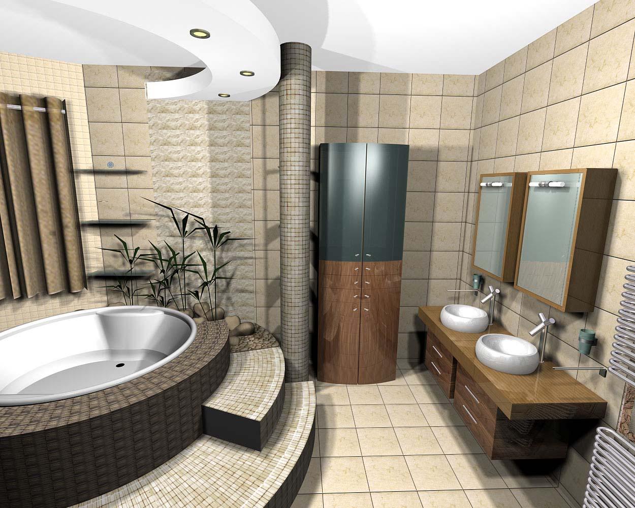 Effective-Bathroom-Furniture Simple and effective bathroom design