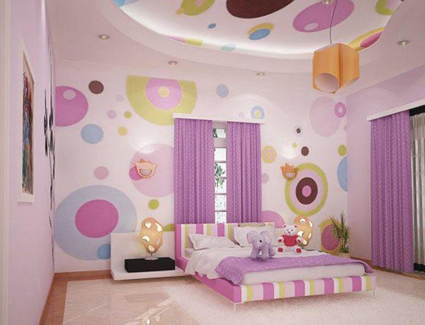 Girls-Bedroom-Dot-Wall-Decals